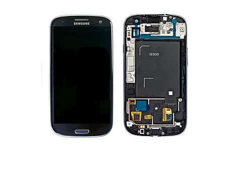 LCD + dotyková deska + př. kryt Samsung Galaxy S III blue