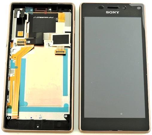 LCD + dotyk + př.kryt Sony Xperia M2 Aqua cooper