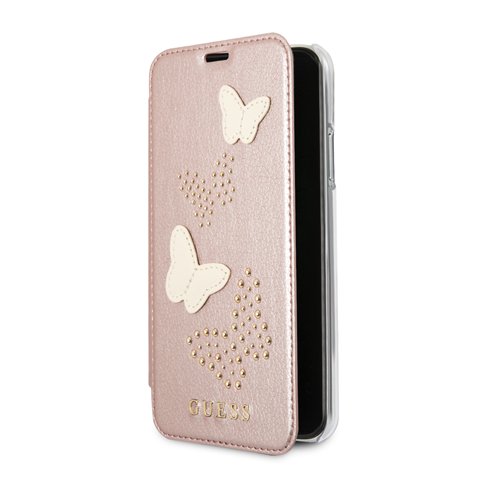 Guess Studs and Sparkle pouzdro flip GUFLBKP7PBURG Apple iPhone 7/8 rose gold