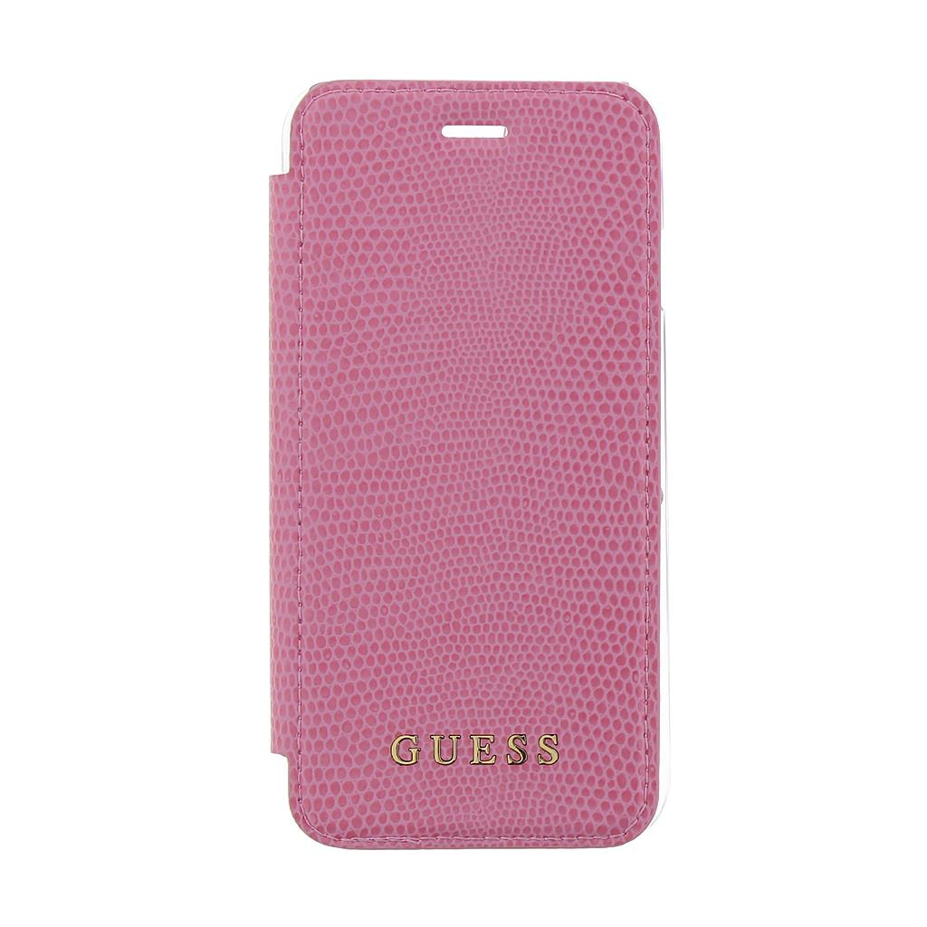 Guess Python Book GUFLBKP7PYLPI pouzdro flip Apple iPhone 7/8 pink
