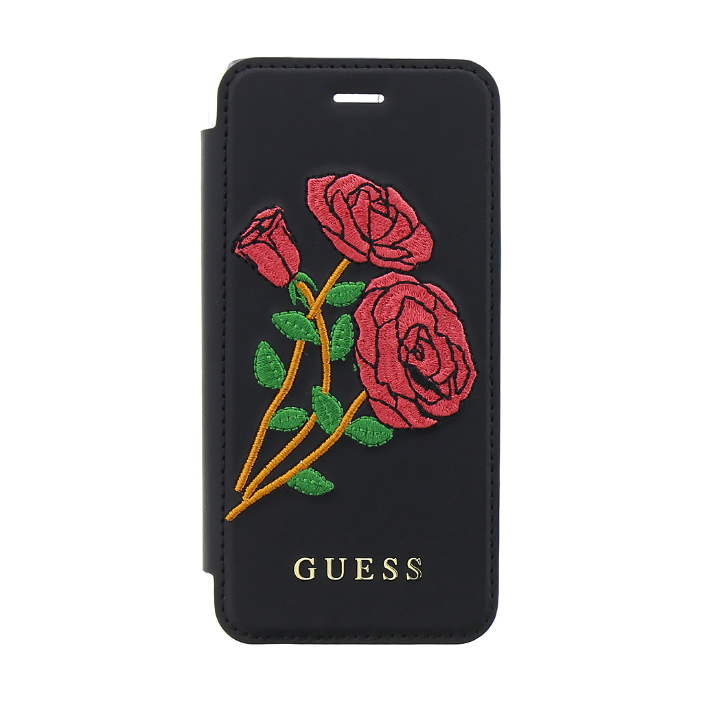 Pouzdro Guess Flower Desire Apple iPhone 7/8, black GUFLBKP7EROBK