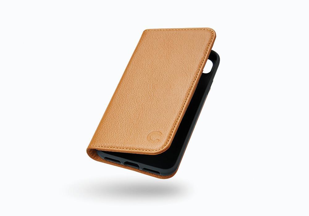 CYGNETT Leather Wallet pouzdro flip Apple iPhone 8 Plus tan