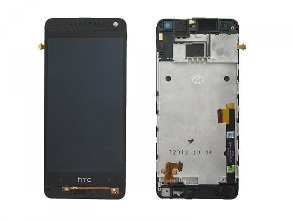 LCD + dotyk + př. kryt HTC ONE mini /M4 (601n) silver