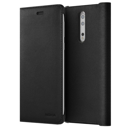 Nokia Leather Flip pouzdro CP-801 Nokia 8 black