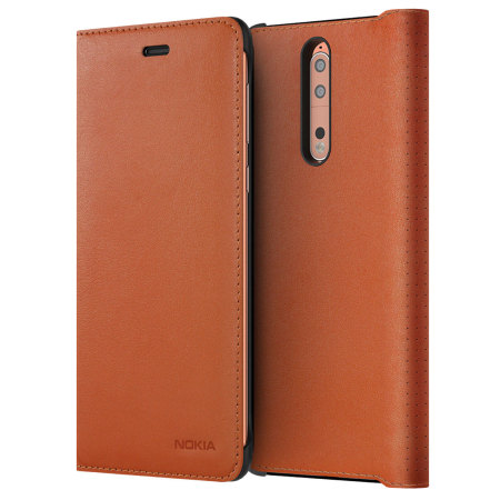 Nokia Leather Flip pouzdro CP-801 Nokia 8 copper