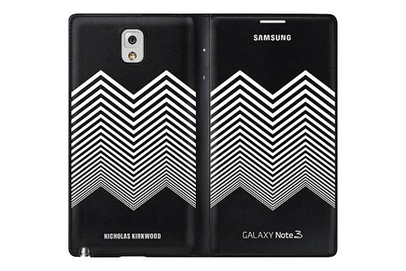 Samsung Nicolas Kirkwood pouzdro flip EF-EN900BB Samsung Galaxy Note 3 black/white