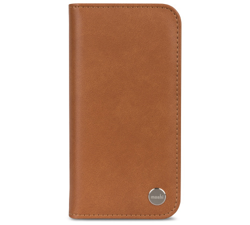 Moshi Overture pouzdro flip Apple iPhone X caramel brown