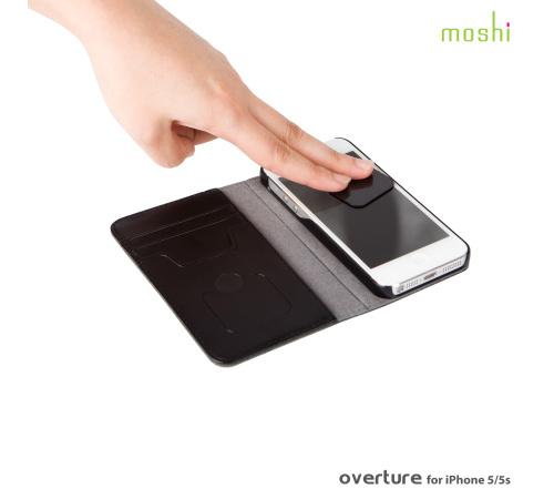 Moshi Overture pouzdro flip Apple iPhone 5/5s/SE metallic black