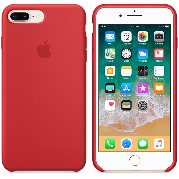 Originální kryt APPLE pro iPhone 8 Plus/7 Plus, červená