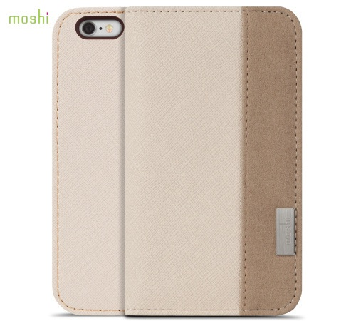 Moshi Overture pouzdro flip Apple iPhone 6 Sahara beige