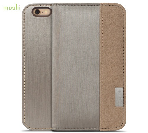 Moshi Overture pouzdro flip Apple iPhone 6 brushed titanium