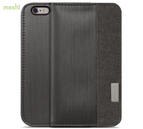 Moshi Overture pouzdro flip Apple iPhone 6 Plus steel black