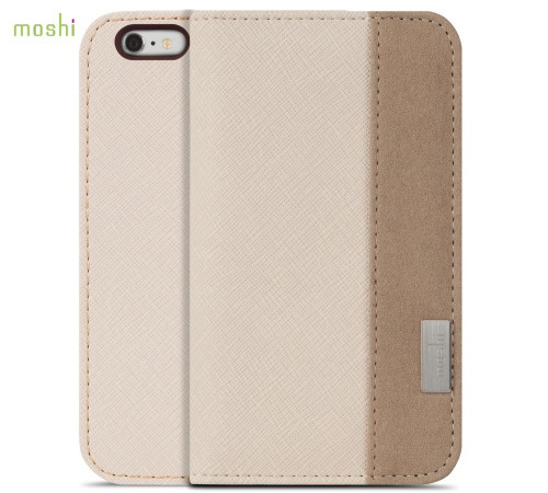 Moshi Overture pouzdro flip Apple iPhone 6 Plus Sahara beige