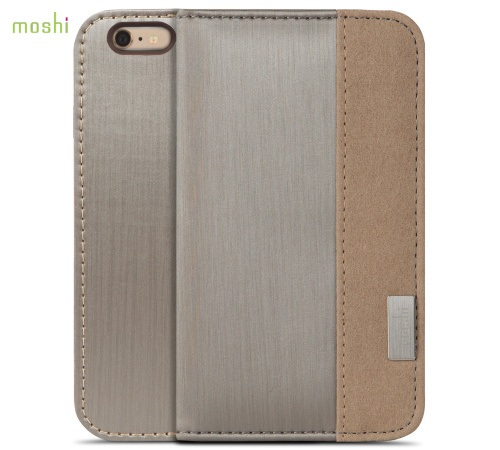 Moshi Overture pouzdro flip Apple iPhone 6 Plus brushed titanium