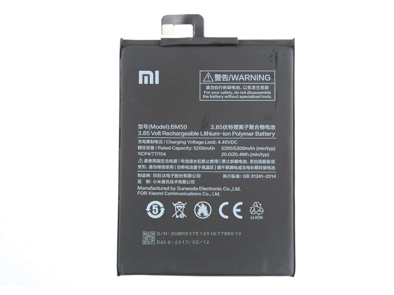 Baterie Xiaomi BM50 5300mAh (Bulk)