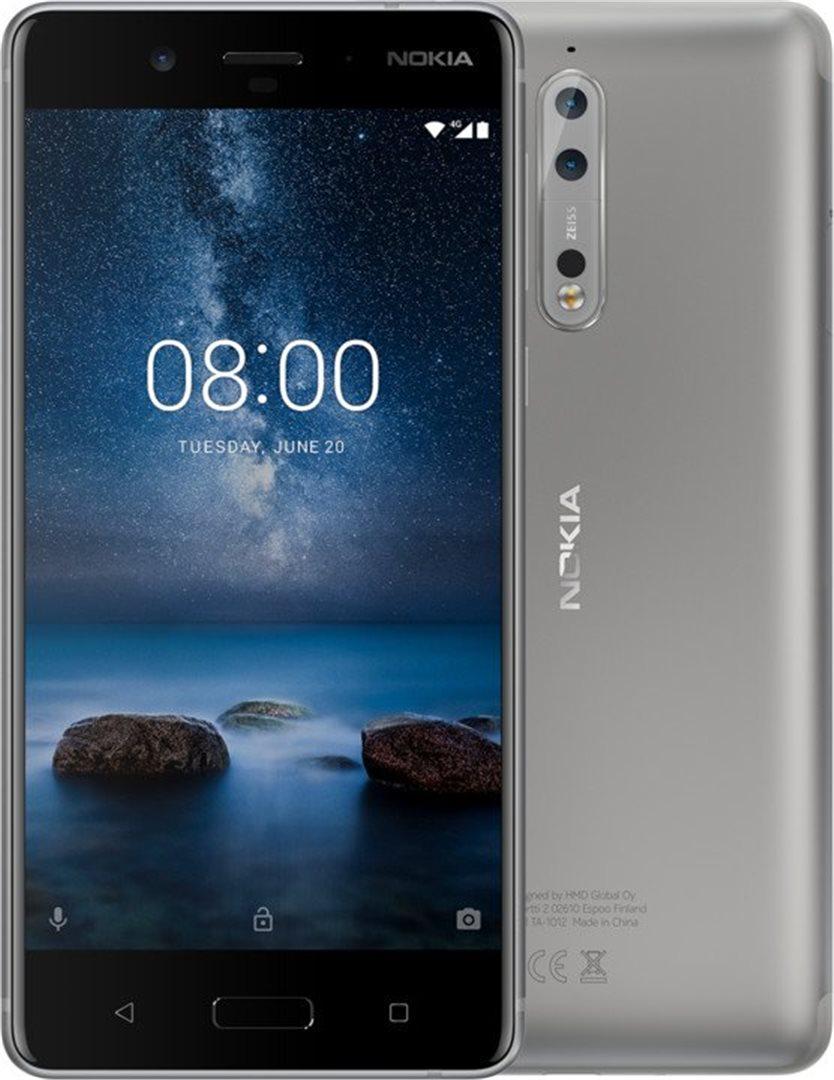 Nokia 8 Dual SIM Silver Steel