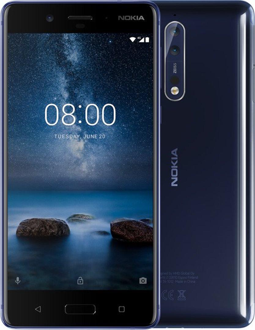 Nokia 8 Tempered Blue Glossy