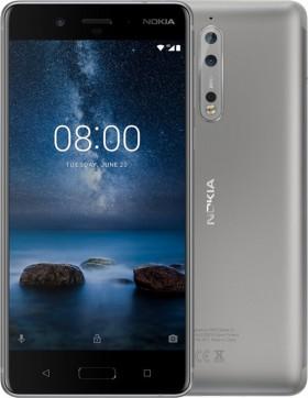 Mobilní telefon Nokia 8 Silver Steel