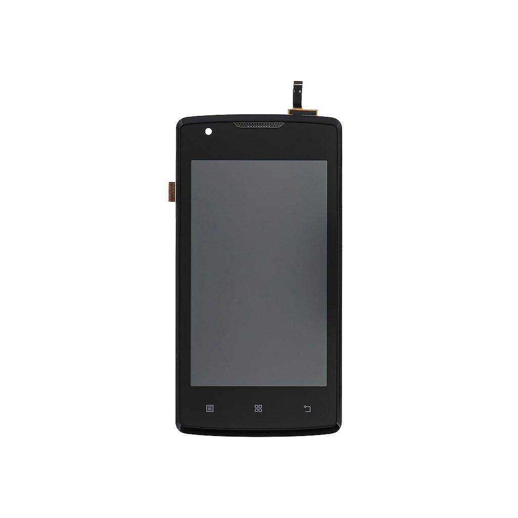 LCD + dotyk + přední kryt pro Lenovo A1000 black