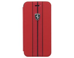 Ferrari Off Track Logo FEURFLBKI8REB pouzdro flip Apple iPhone 7/8 red