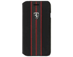 Ferrari Off Track Logo FEURFLBKI8LBKR pouzdro flip Apple iPhone 7/8+ black