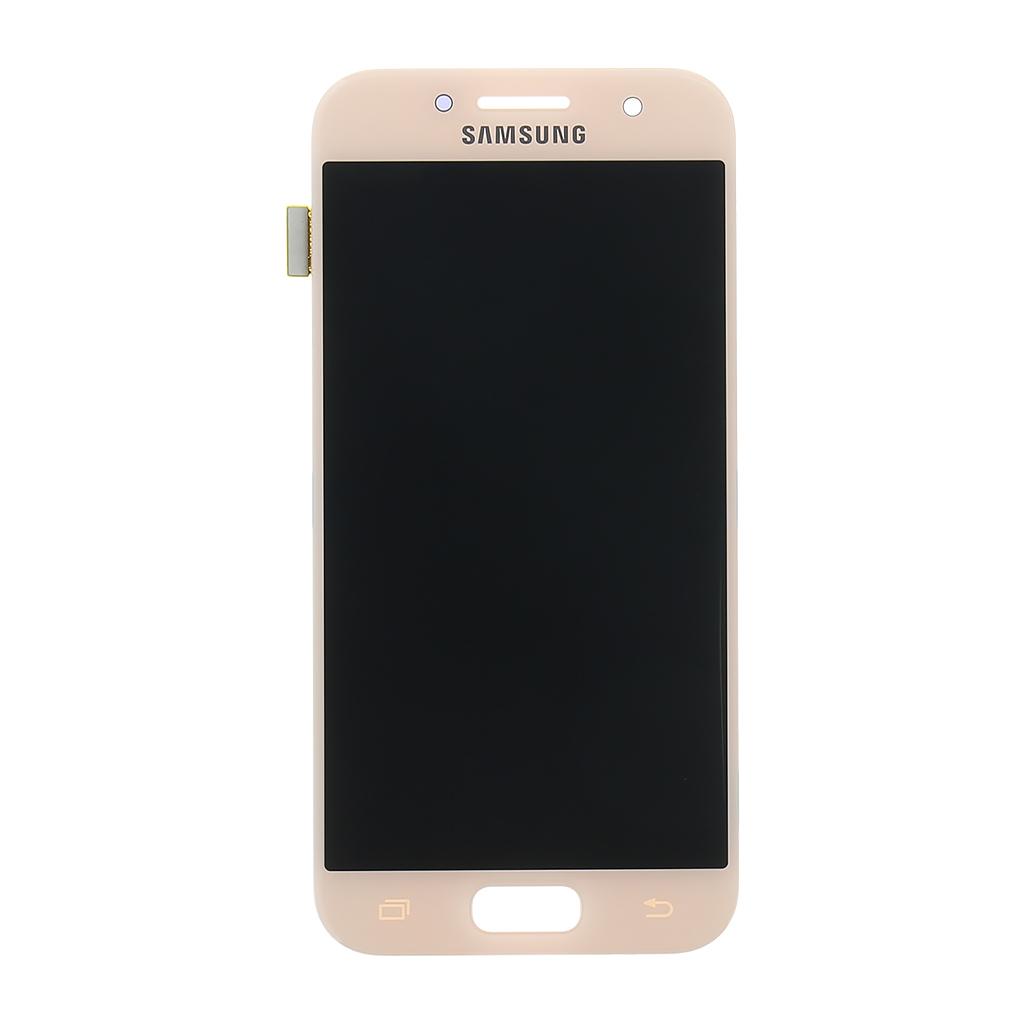 LCD + dotyková deska Samsung Galaxy A3 2017, pink (service pack)