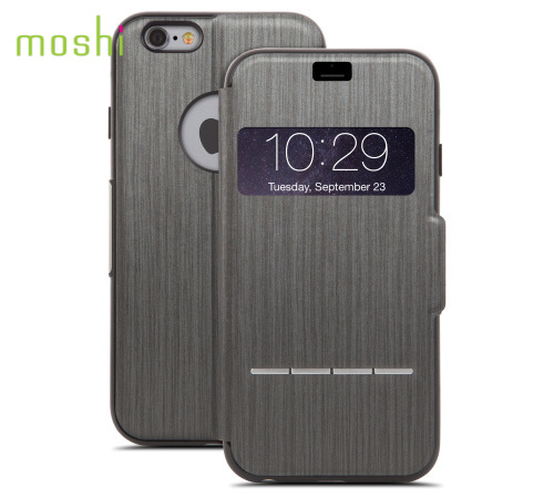 Moshi SenseCover pouzdro flip Apple iPhone 6 steel black