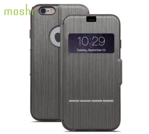 Moshi SenseCover pouzdro flip Apple iPhone 6 Plus steel black