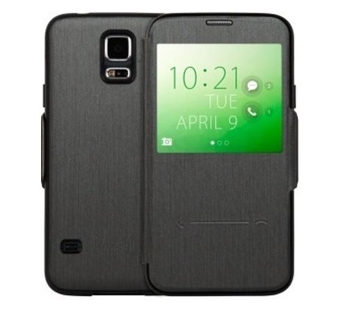 Moshi SenseCover pouzdro flip Samsung Galaxy S5 steel black