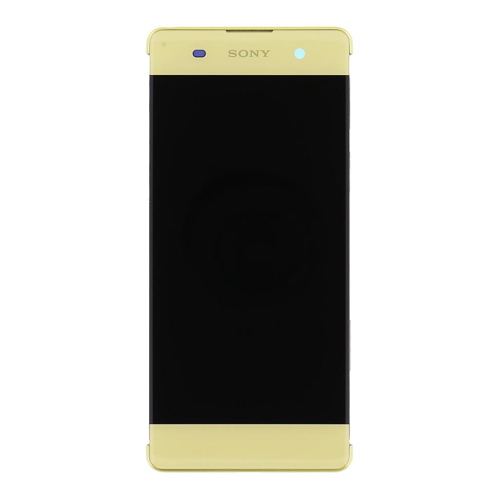 LCD + dotyk + přední kryt Sony Xperia XA, lime gold (service pack)