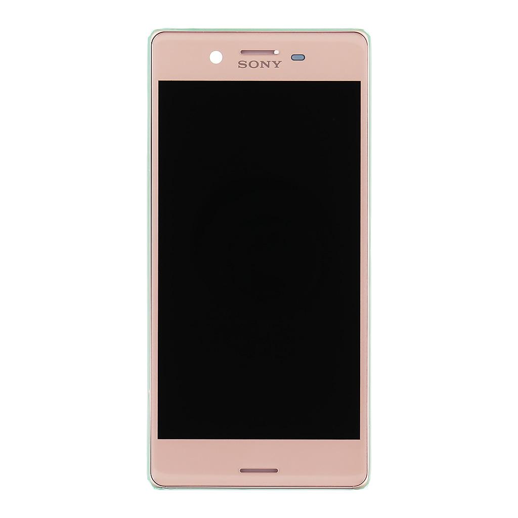 LCD + dotyk + přední kryt Sony Xperia X, rose gold (service pack)
