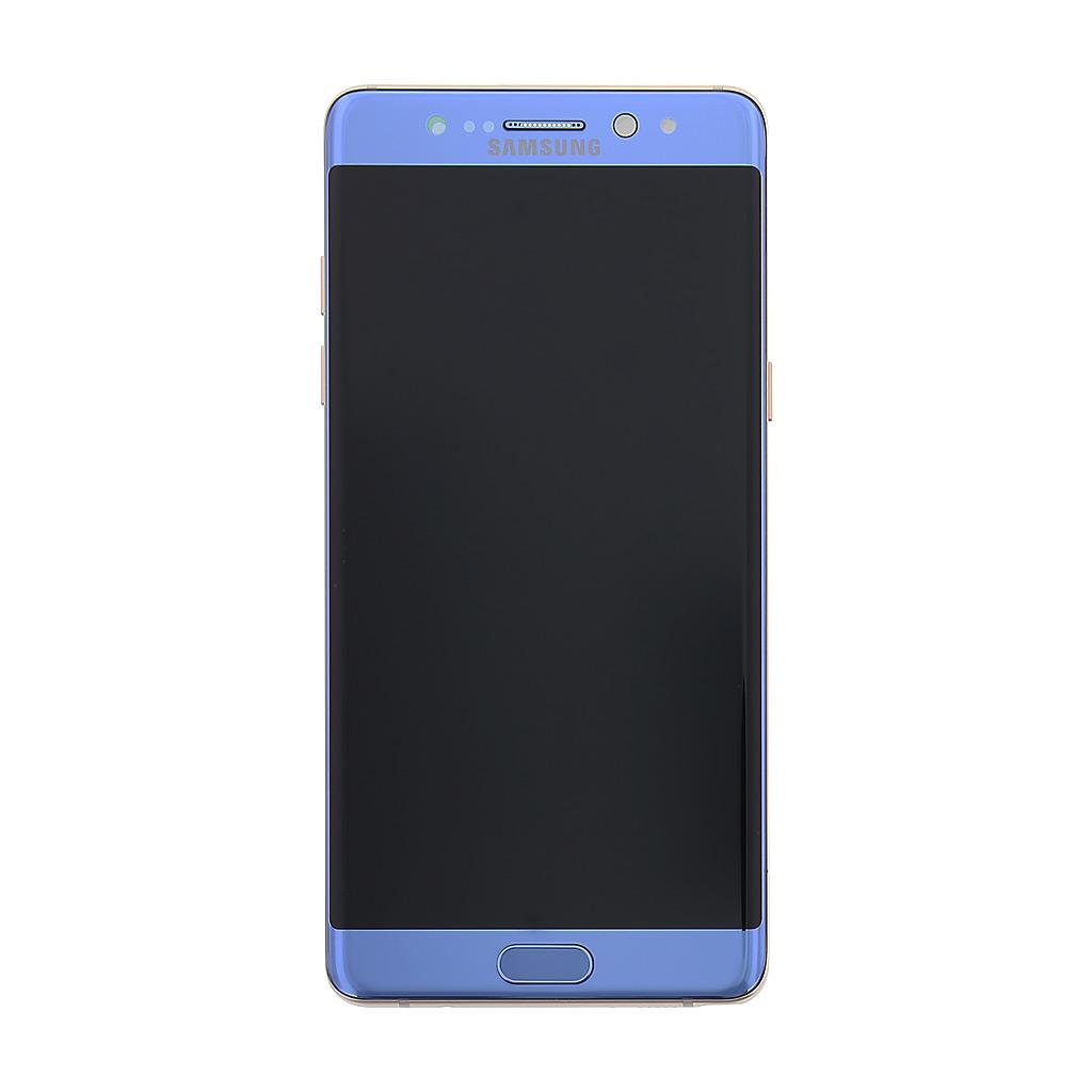 LCD + dotyk + přední kryt Samsung Galaxy Note 7, blue
