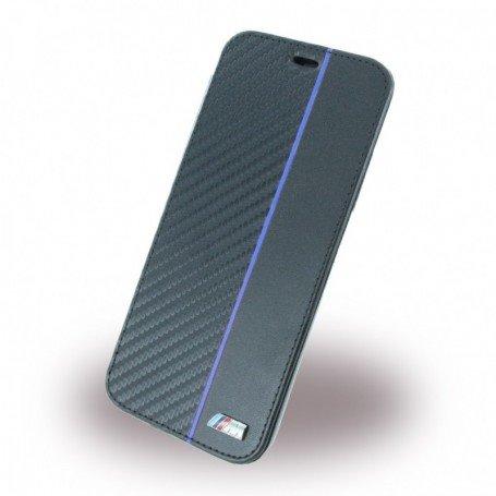 BMW Carbon Book BMBKTRPXCAPNBK pouzdro flip Apple iPhone X transparent/navy