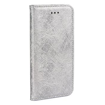 ForCell MAGIC BOOK pouzdro flip APPLE IPHONE 5/5s/SE silver
