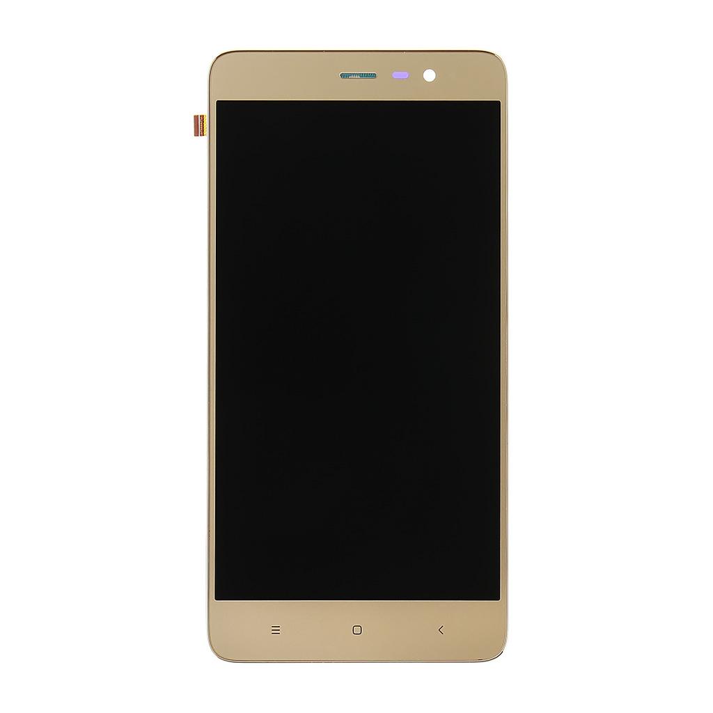 LCD + dotyk + přední kry Xiaomi RedMi Note 3 SE, gold