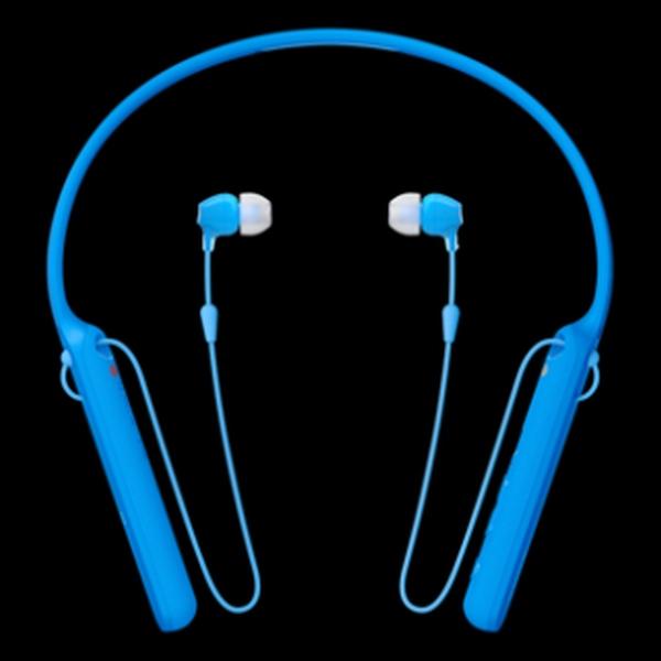 SONY WI-C400L bezdrátová sluchátka Bluetooth® a NFC blue