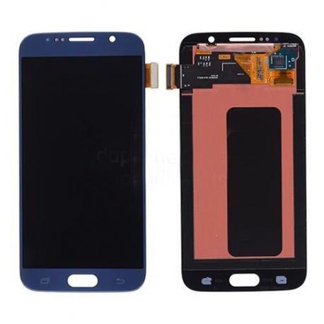 LCD + dotyk Samsung Galaxy S6, blue