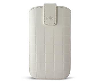 KSIX ROMA zasouvací pouzdro APPLE iPhone 5 white