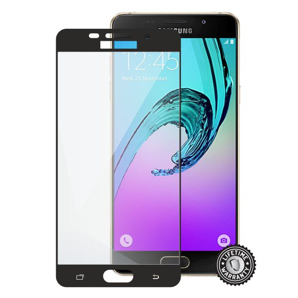 Screenshield tvrzené sklo Samsung Galaxy A5 (2016) full COVER, black