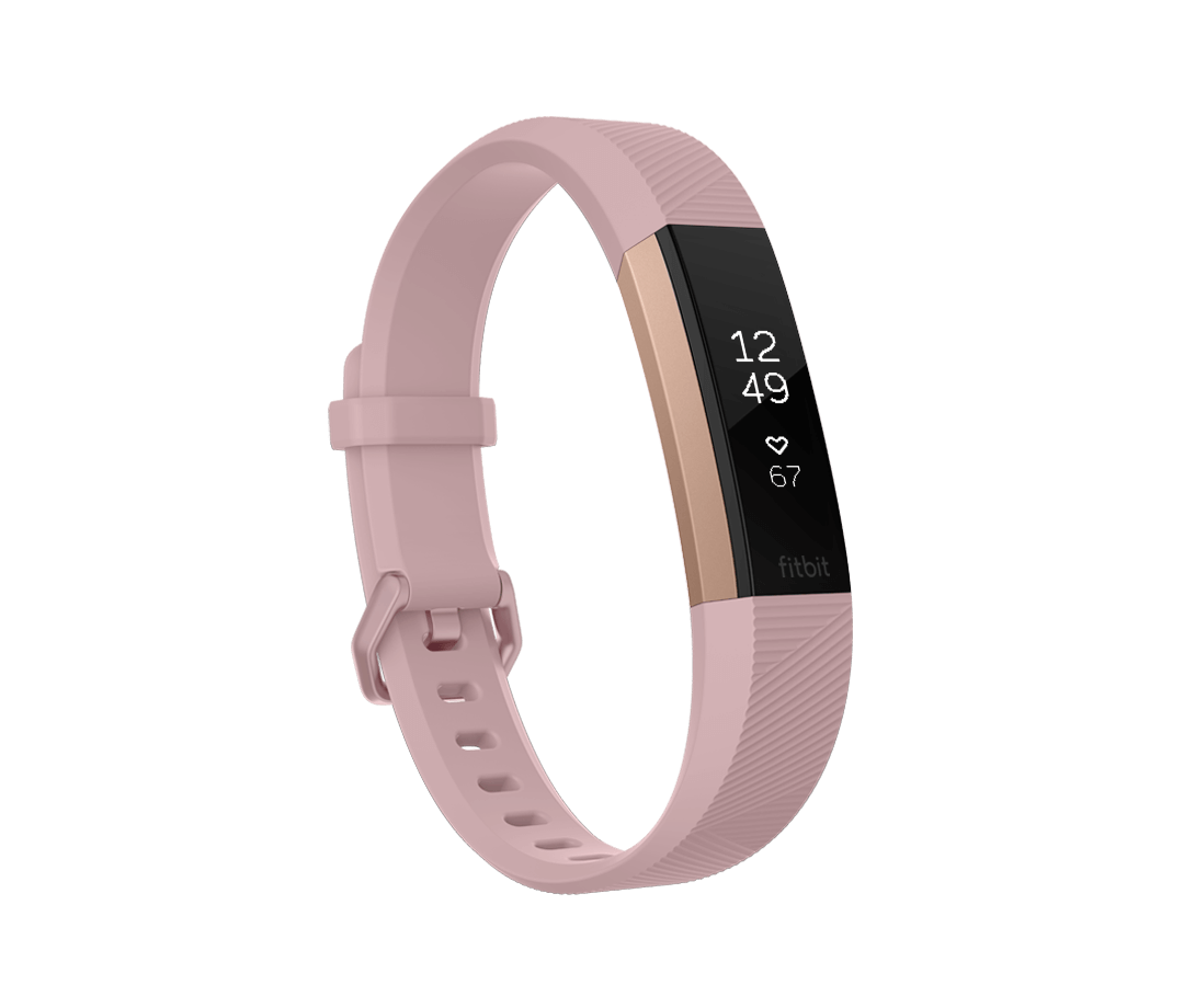 Fitness náramek Fitbit Alta HR Pink Rose Gold - Large