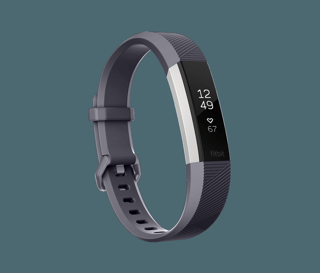 Fitness náramek Fitbit Alta HR Blue Gray - Large