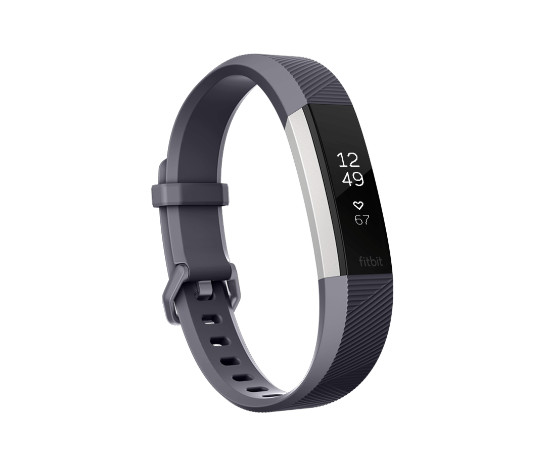Fitness náramek Fitbit Alta HR Blue Gray - Small