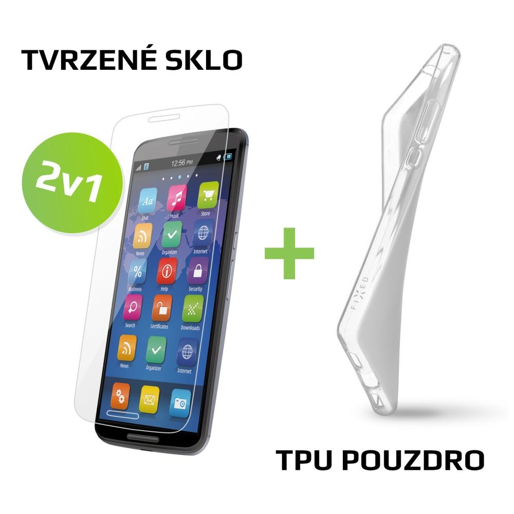 Balíček FIXED 2v1 pro Huawei P9 Lite - TPU gelové pouzdro + sklo na displej