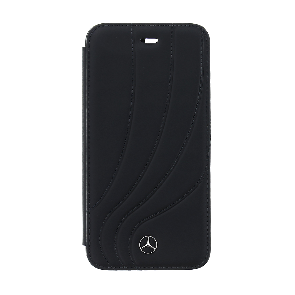 Mercedes New Organic II MEFLBKI8LDCLBK pouzdro flip Apple iPhone 8 Plus black