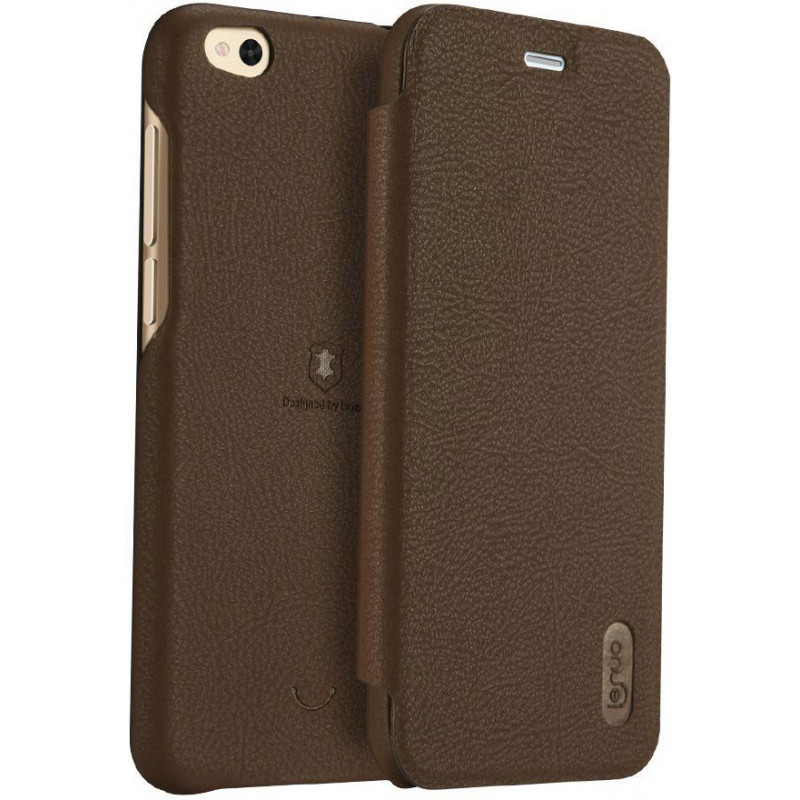 Lenuo Ledream pouzdro flip Xiaomi Redmi Note 5A Prime brown