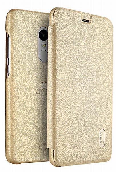 Lenuo Ledream pouzdro flip Xiaomi Redmi Note 5A Prime gold