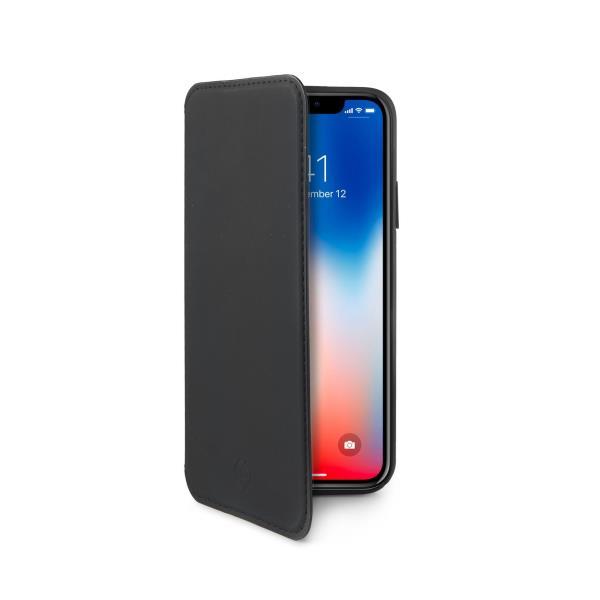 CELLY Prestige pouzdro flip Apple iPhone X black