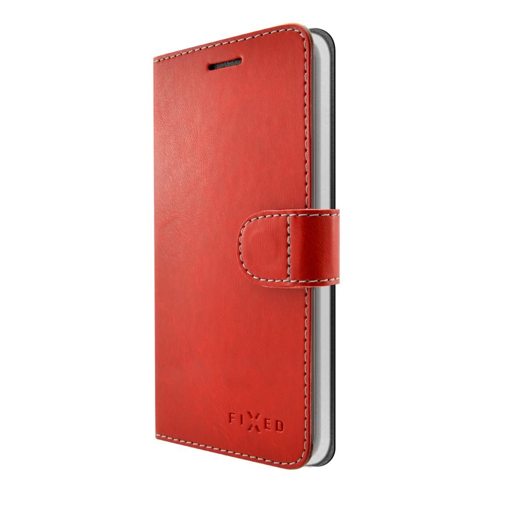 FIXED FIT flipové pouzdro Lenovo K8 Plus red