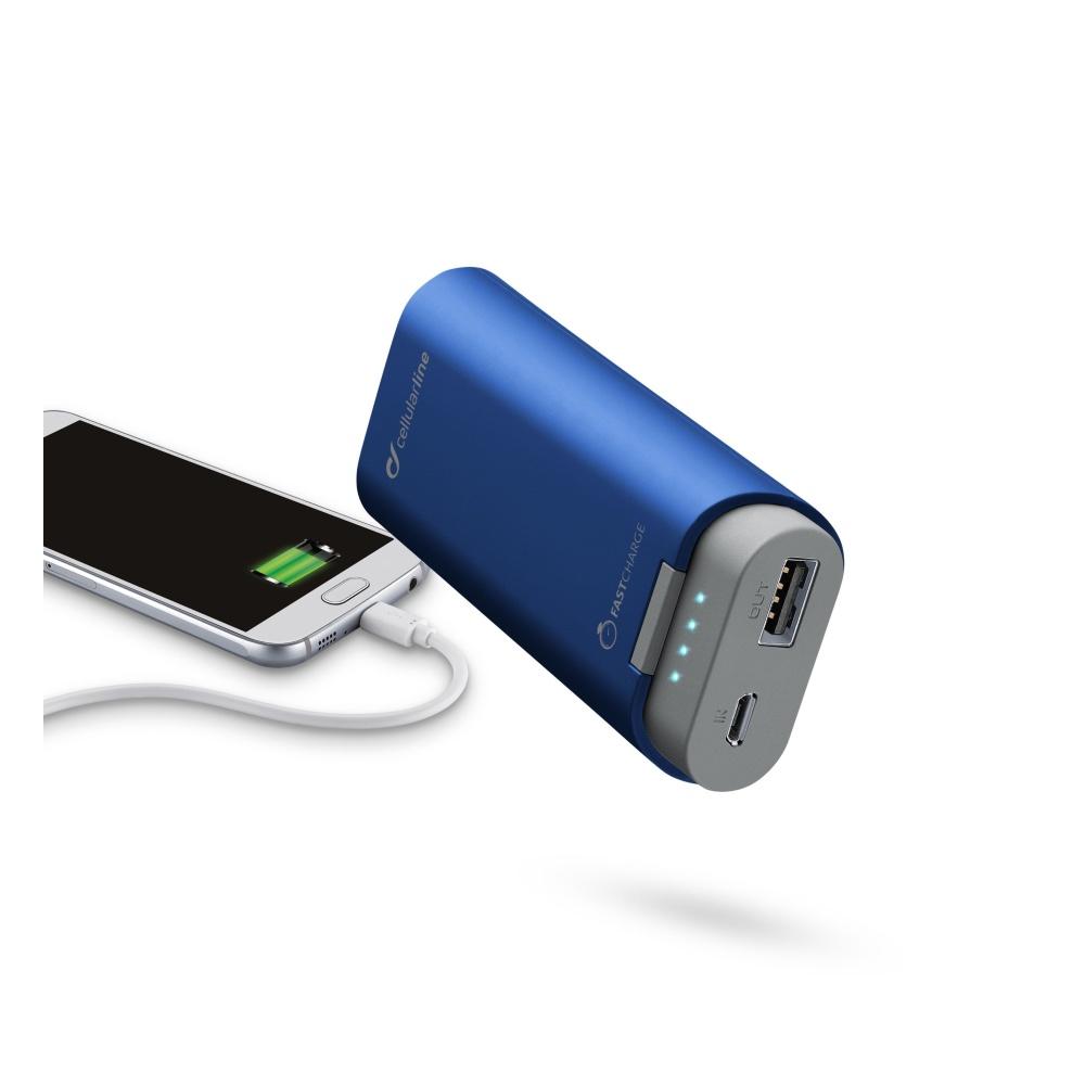 Powerbanka CellularLine FREEPOWER, 5200mAh, blue
