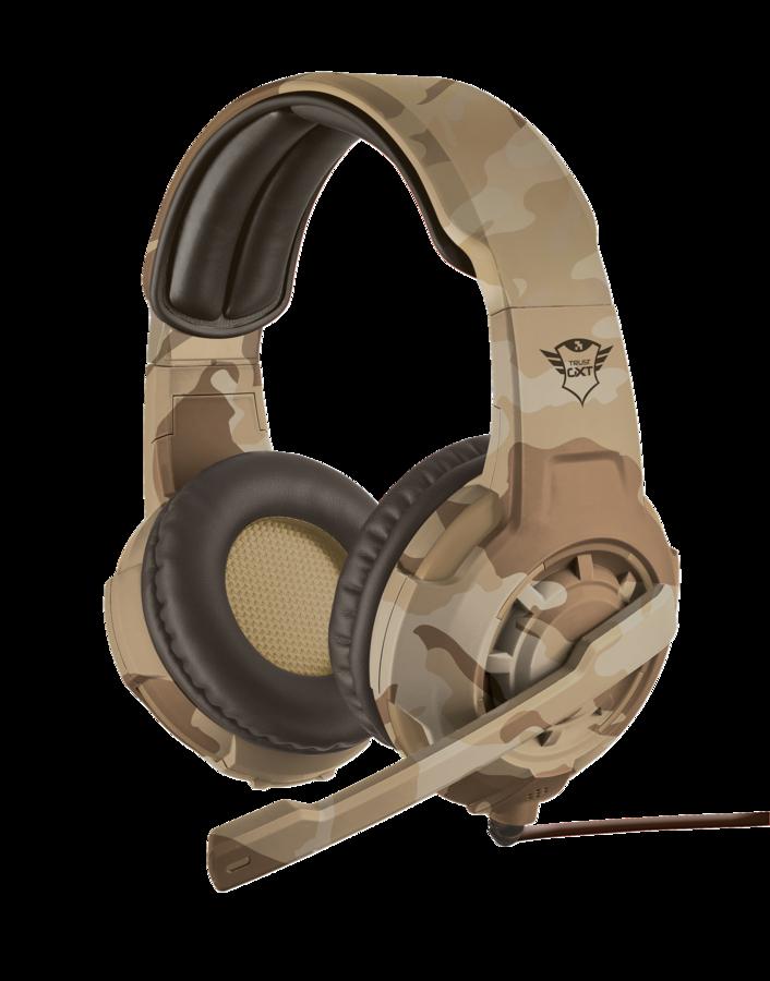 TRUST GXT 310C Radius herní sluchátka desert camo
